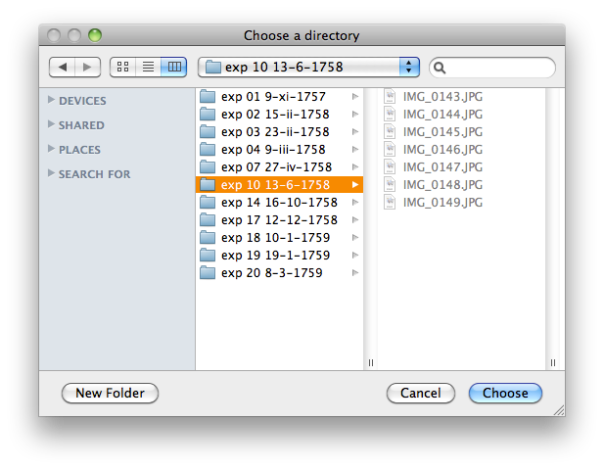 Directory Open Dialogue